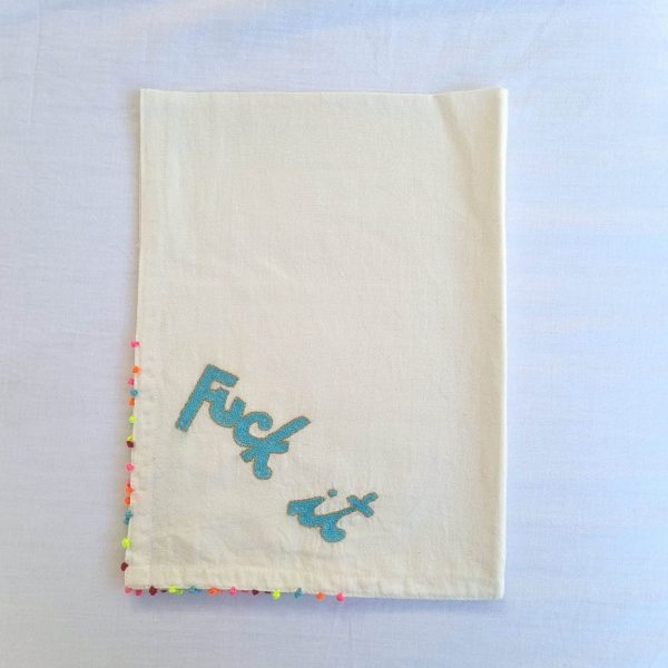 Blue Fuck-it SEWA Tea Towel