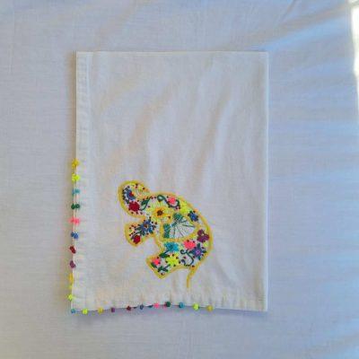 Yellow Elly SEWA Tea Towel