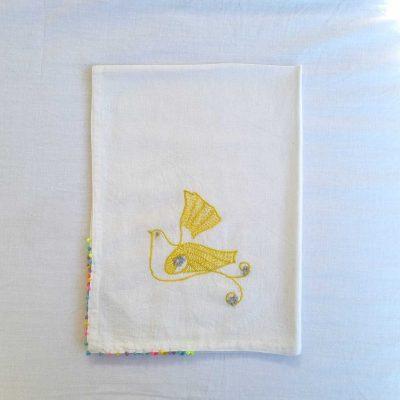 Yellow Dove SEWA Tea Towel