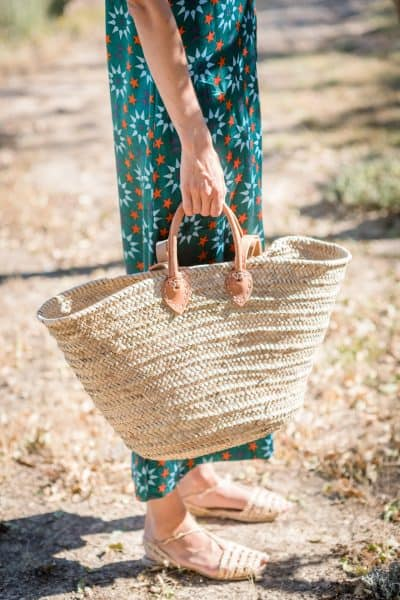 Ibiza Basket with Sandals and jumpsuit