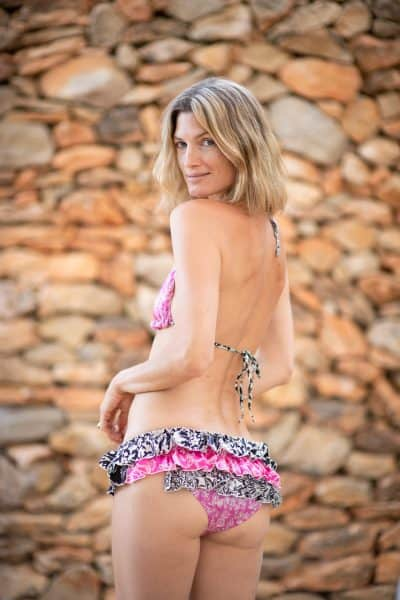 frilly bikini in silk