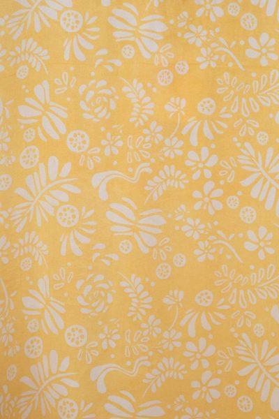 yellow fern bishnupuri silk