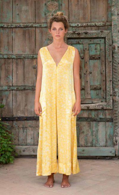 WIF Onesie Yellow Fern Silk front