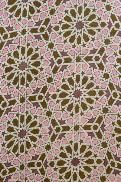 olive green mosaic bishnupuri silk