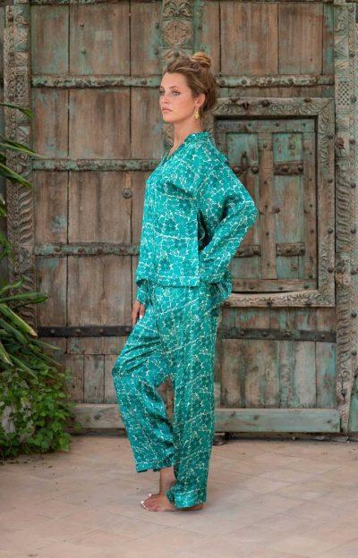 WIF Silk A-Line Top & WIF Silk Trousers side