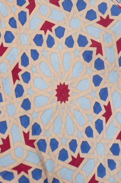 tea mosaic print bishnupuri silk