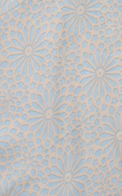 sky blue kaleidoscope print