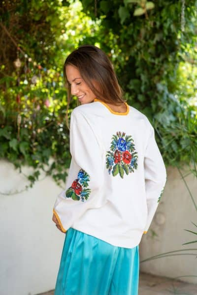 Beaded Floral Top