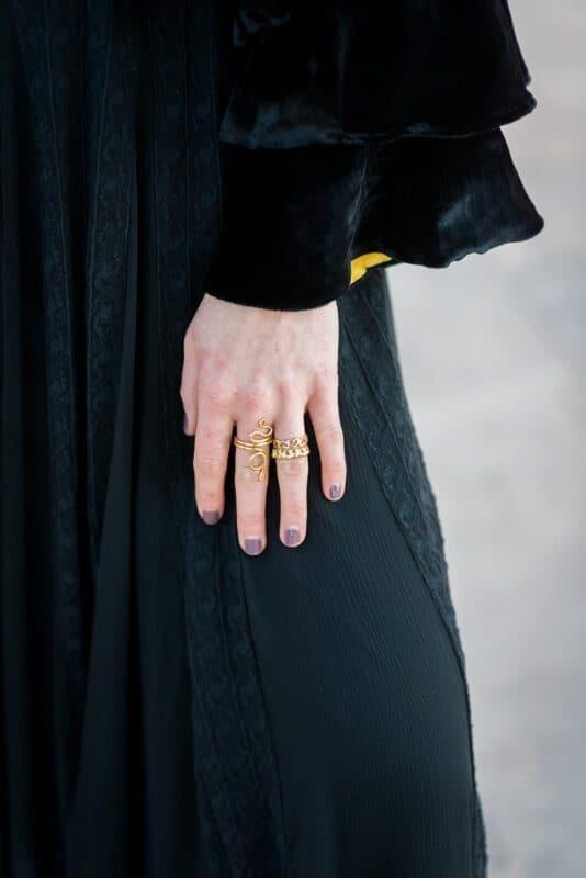 snake ring & heart ring