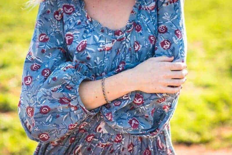semi precious silver bracelet