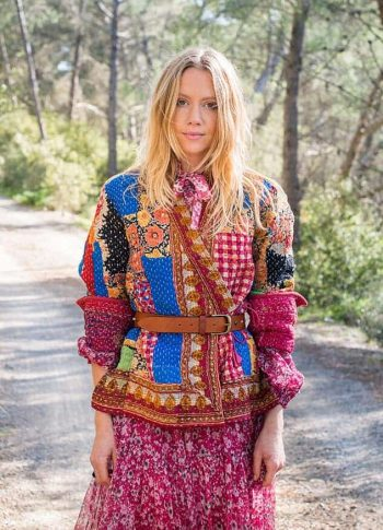 patchwork kantha jacket