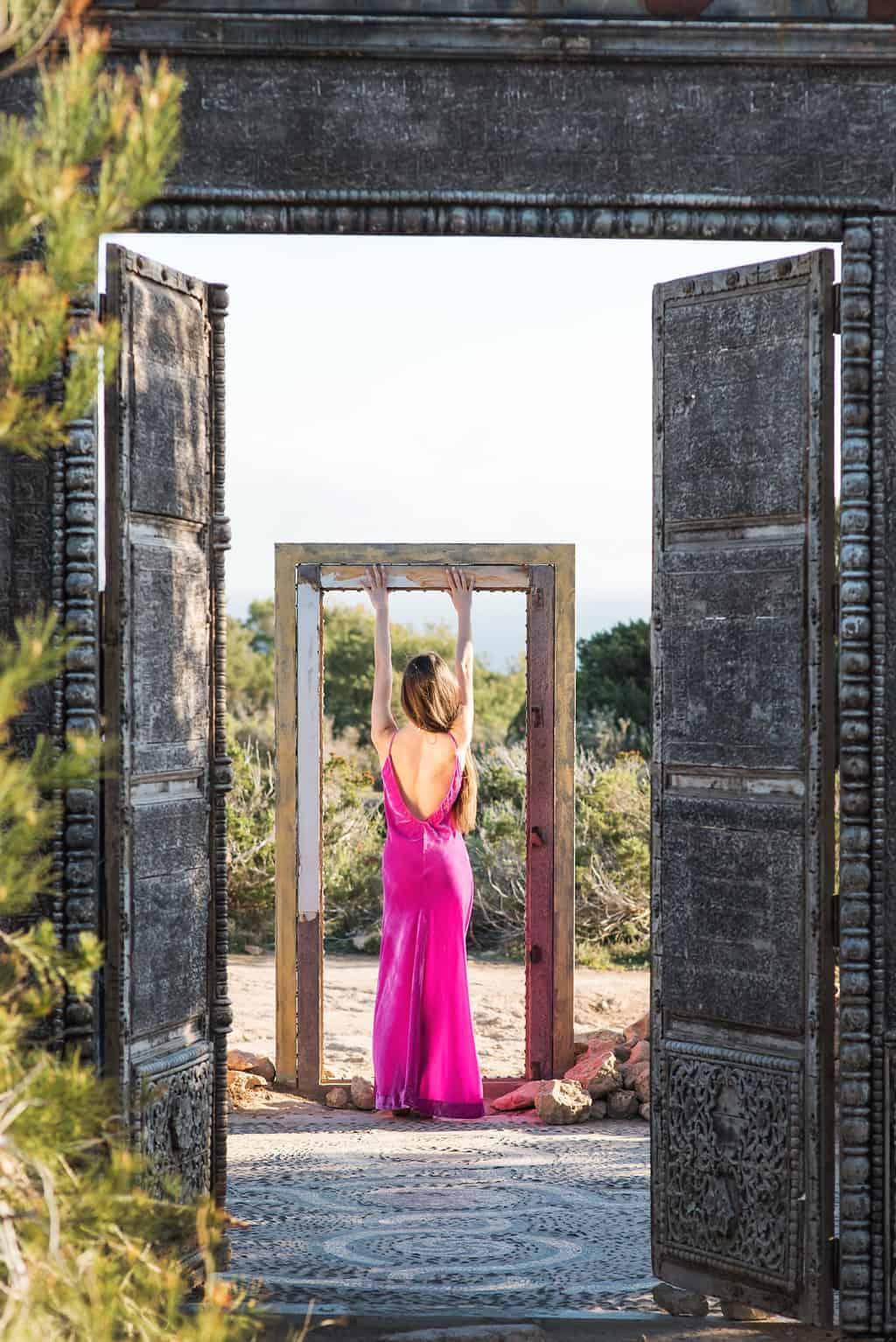 Long velvet slip dress La Galeria Elefante Ibiza Victoria Made With Love & Laughter