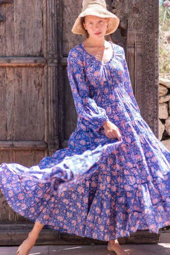Long cotton princess dress