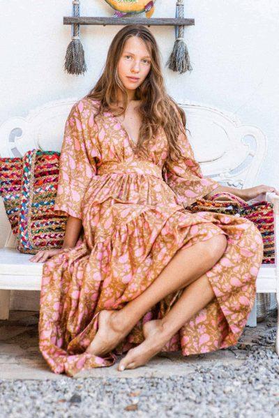 KTF kimono dress