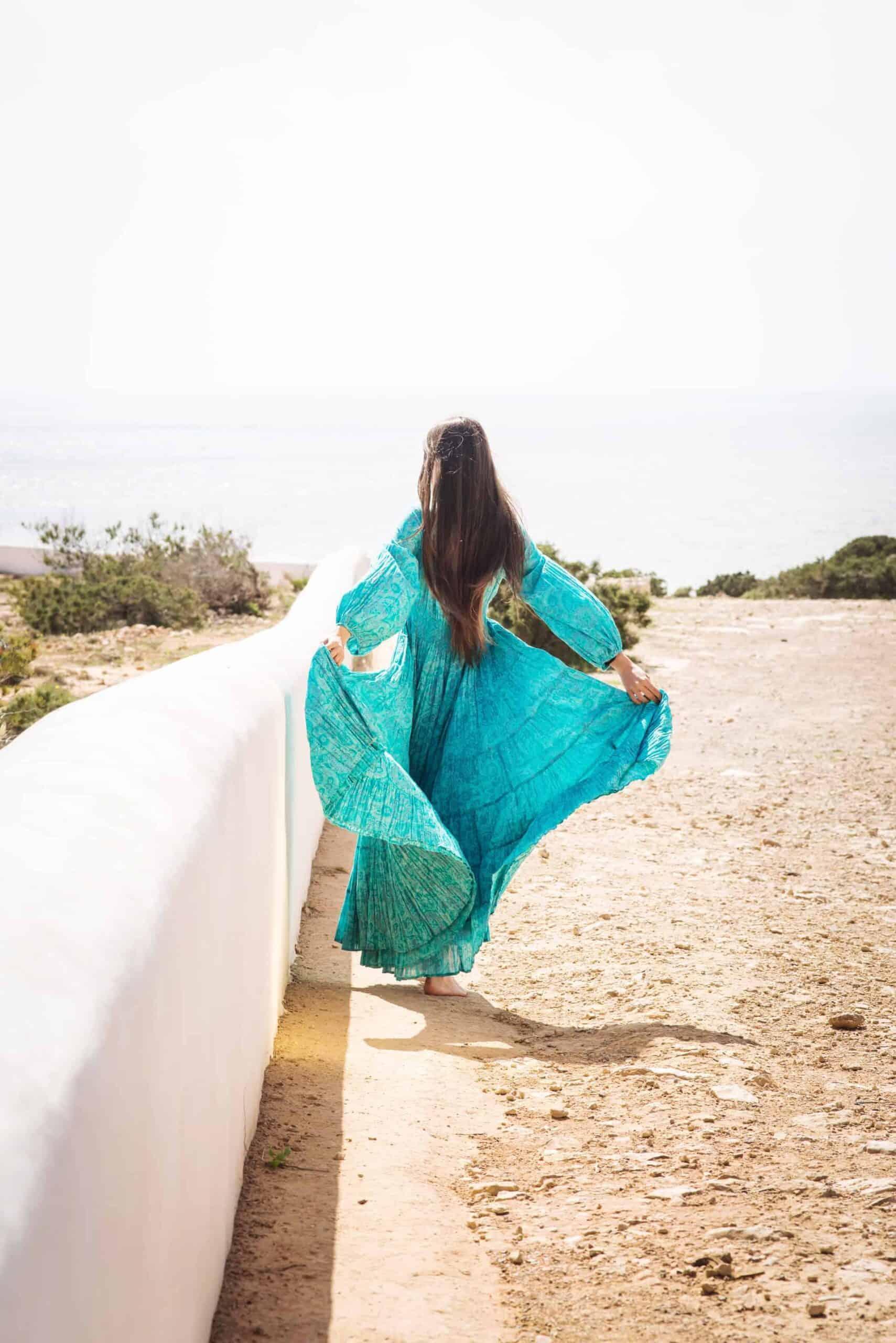 Turquoise Jody Dress