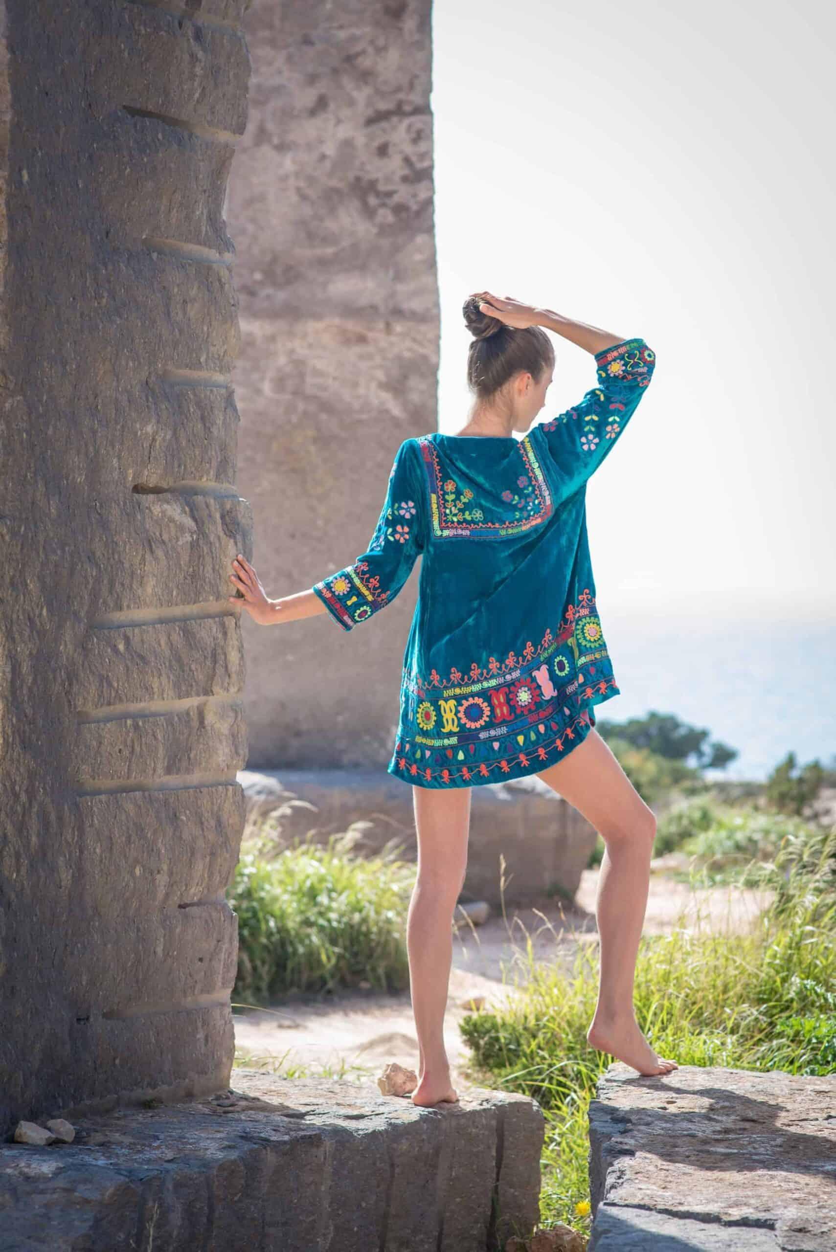 Velvet turkey tunic La Galeria Elefante Ibiza Victoria Made With Love & Laughter