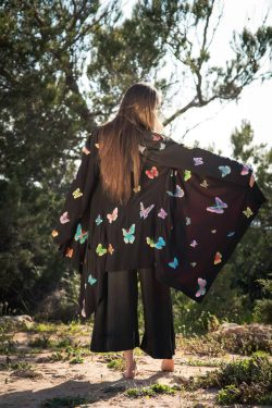 butterfly embroidery on silk