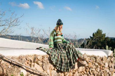 bohemian tartan skirt