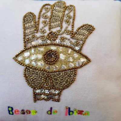Besos de Ibiza Hamsa Hand Scatter Cushion