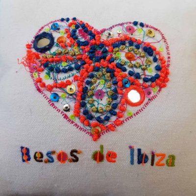 Besos de Ibiza Heart Scatter Cushion