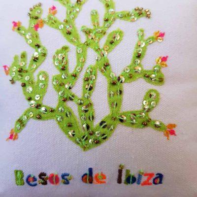 Besos de Ibiza Cactus Scatter Cushion