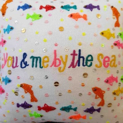 You and Me By The Sea Scatter Cushion
