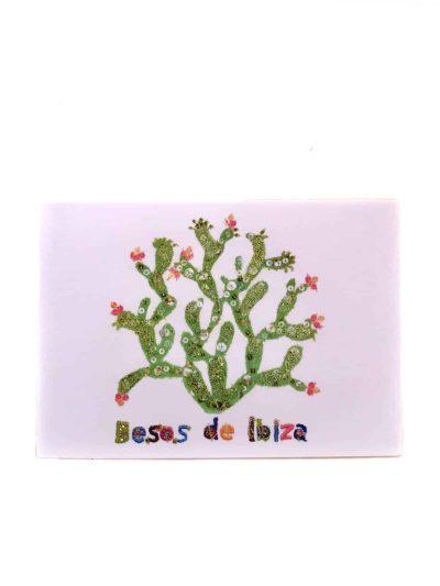 besos de ibiza cactus card