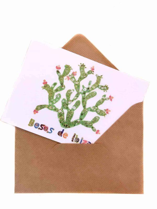 An Ibiza cactus on a card