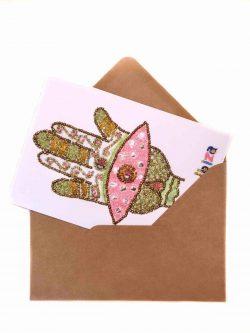 hand of Fatima on a card