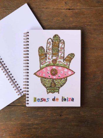 blank hamsa hand notebook