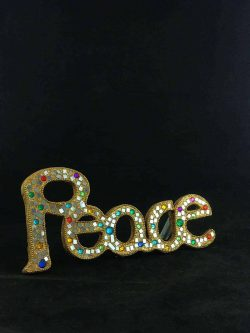 glitter mosaic peace sign